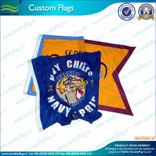 120Gsm Knitted polyester flags