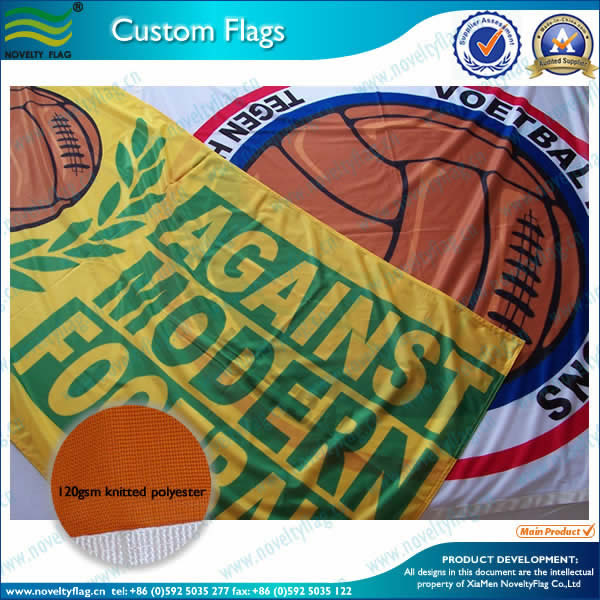 120gsm Knitted polyester, custom flags