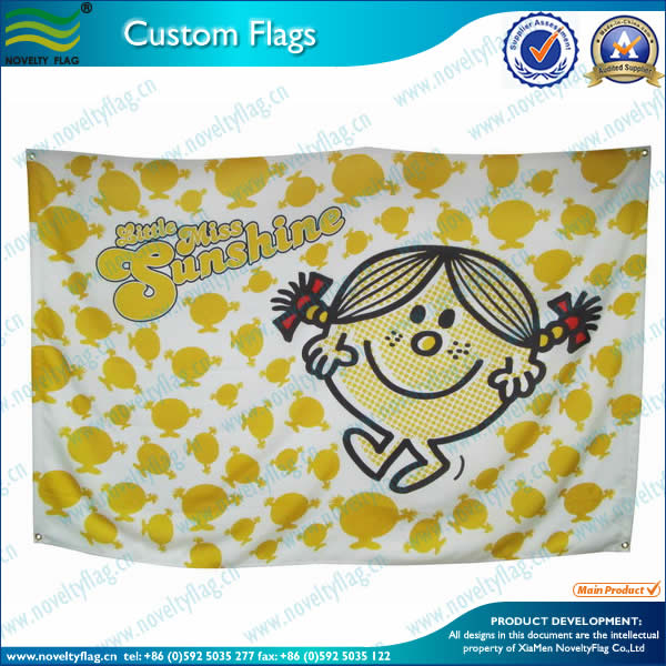 Decorative flag for fun greeting