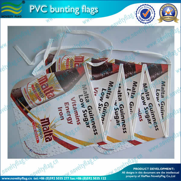 PVC bunting flag for decoration