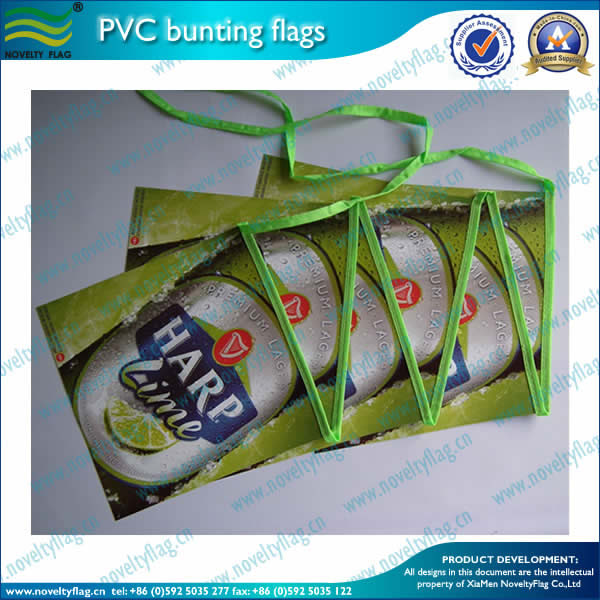 PVC bunting flag for AD