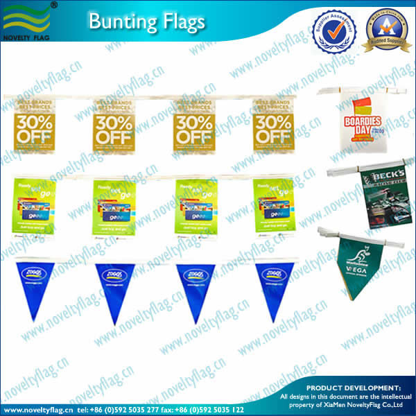PE bunting flag for AD
