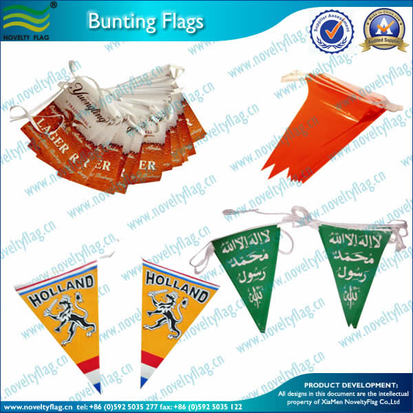 PE bunting for marketing
