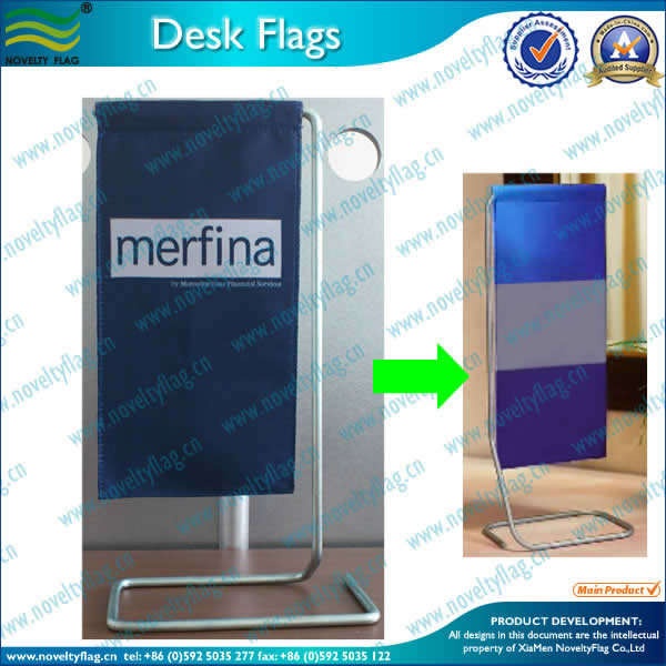 Desk flag, Metal stand, new product