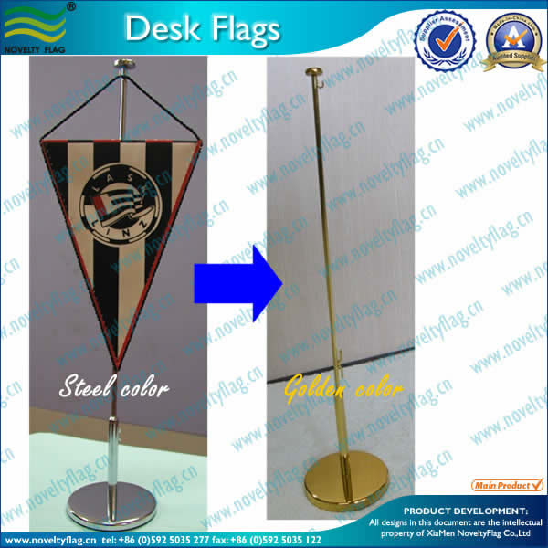 Table flag, metal stand