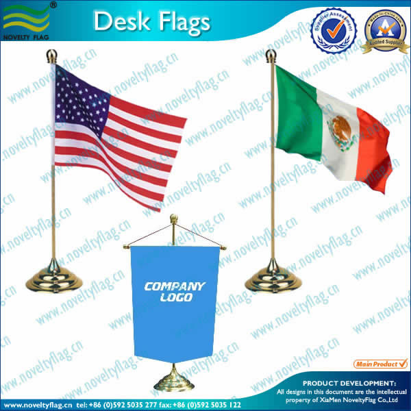Table flag, zinc alloy stand