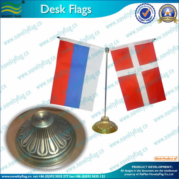Retro table flag, Zinc alloy base
