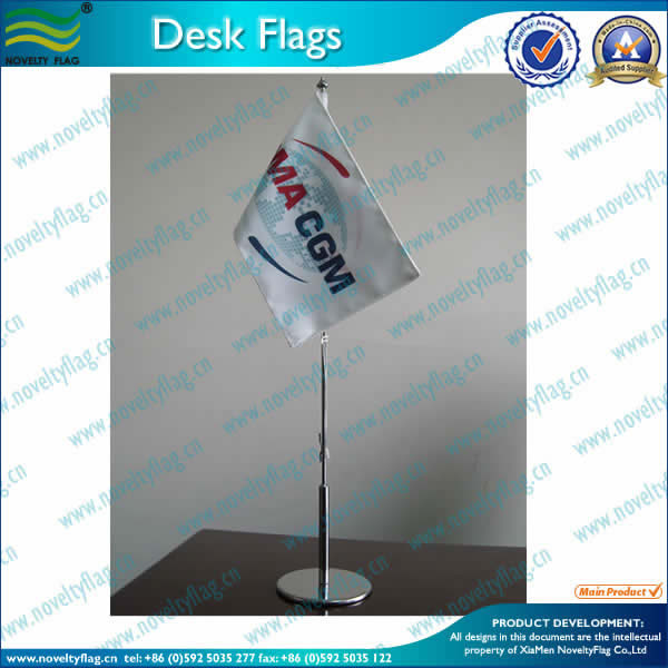 Steel table flag stand