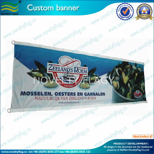 CMYK printing banner by screen printing