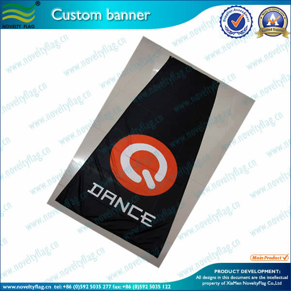 Logo banner by screen printing