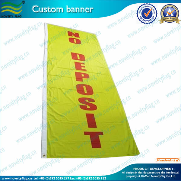 Custom banner by screen printing