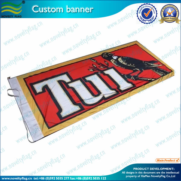 Full color banner by screen printing
