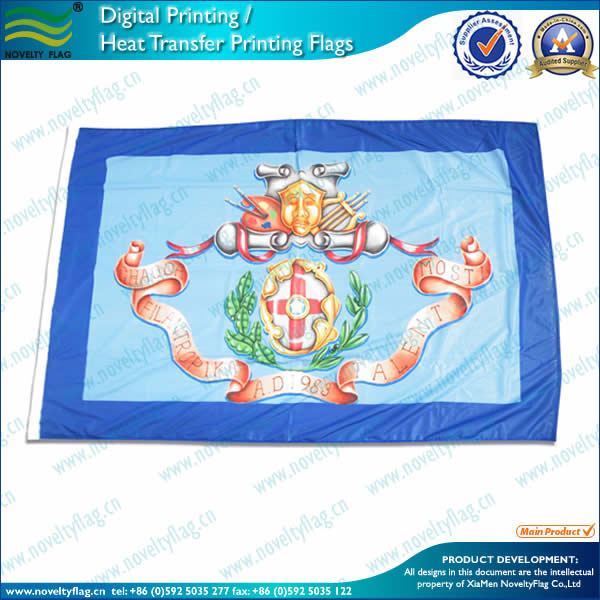 Full color printing process flag
