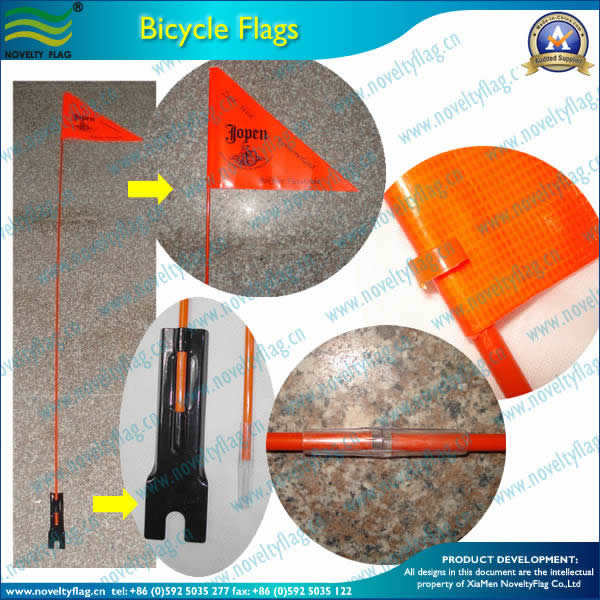 Bicycle flag, Fiberglass poles