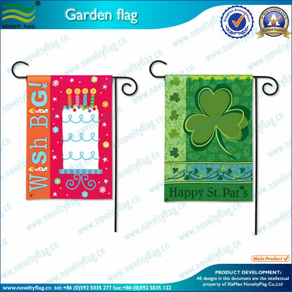 Custom garden flags for decoration