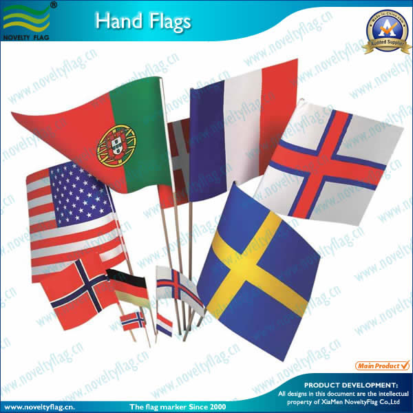 Different sizes of hand flags