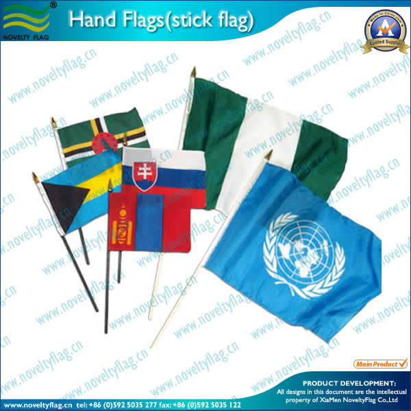 Hand flags-national flags