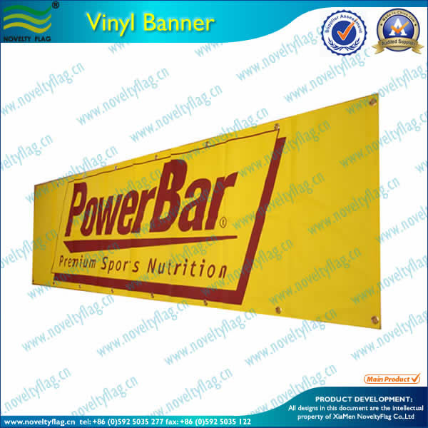 Vinyl banner by digital printing