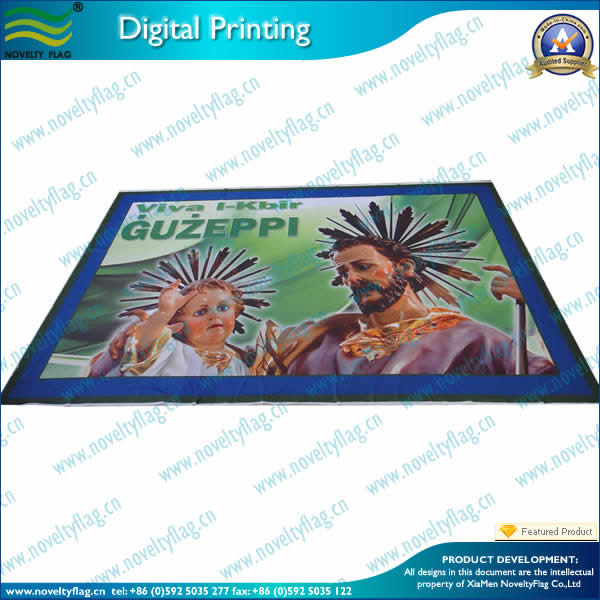 Religon flag with digital printing