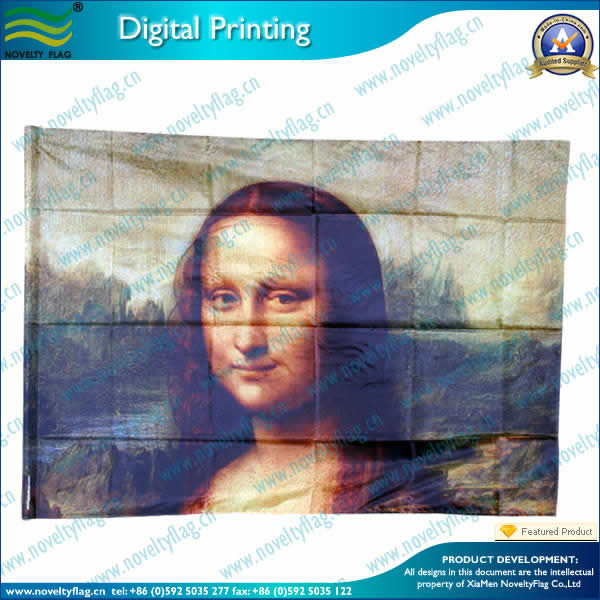 Portrait flag with digital printing