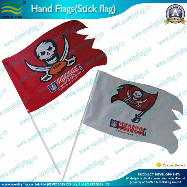 Stick flag with screen printing