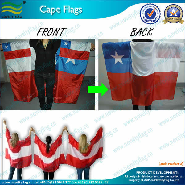 Cape flag in 75D Polyester