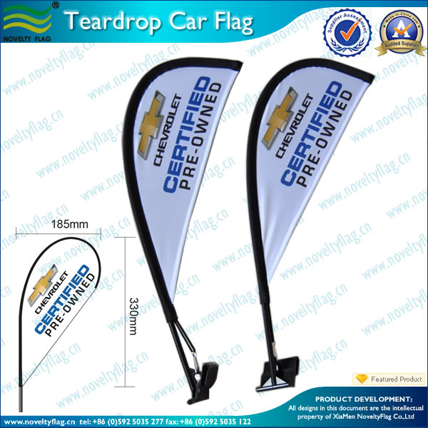 Cheap custom teardrop car flag