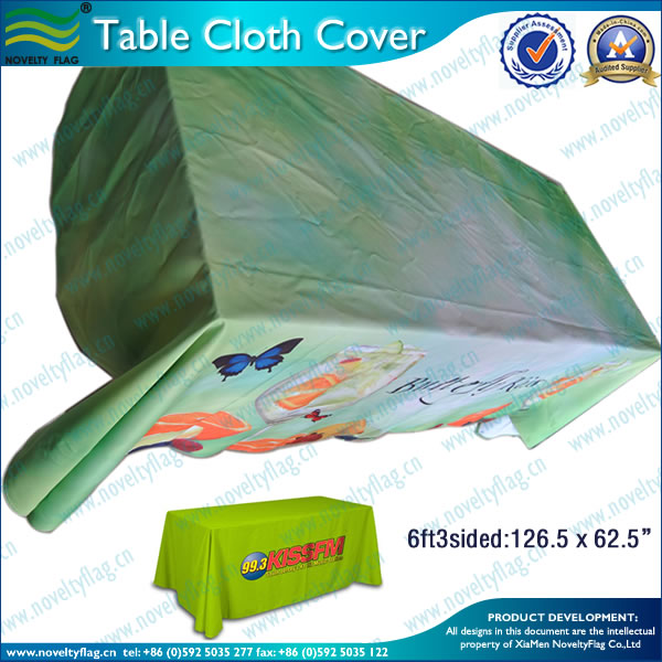 6ft3sided full color table clothes