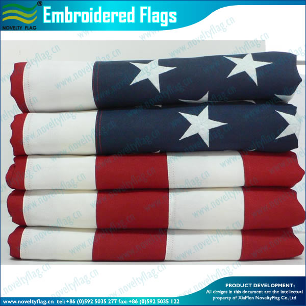 QUALITY EMBROIDEREY FLAG