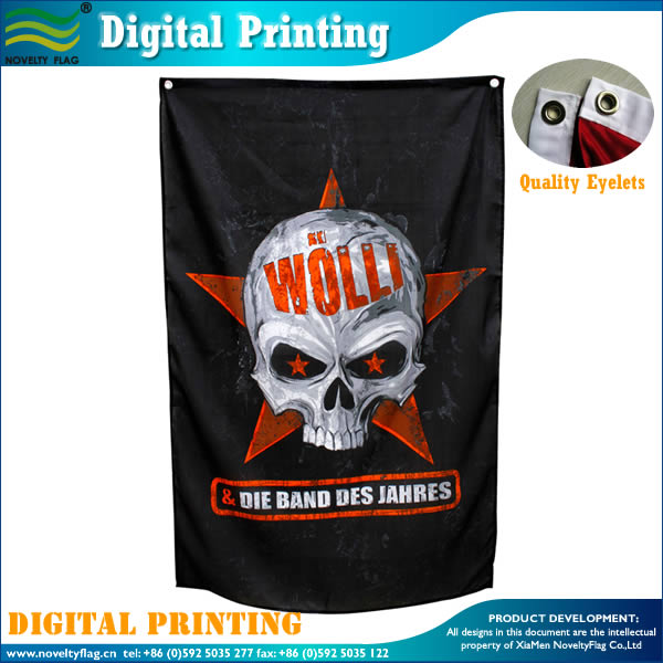 Ad flag with digital printing