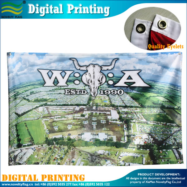 Painting flag with digital printing